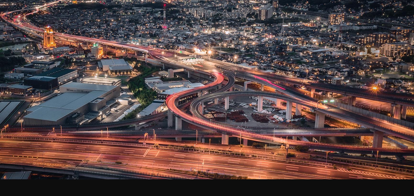 明日への未来の道 道路を通し豊かな生活を